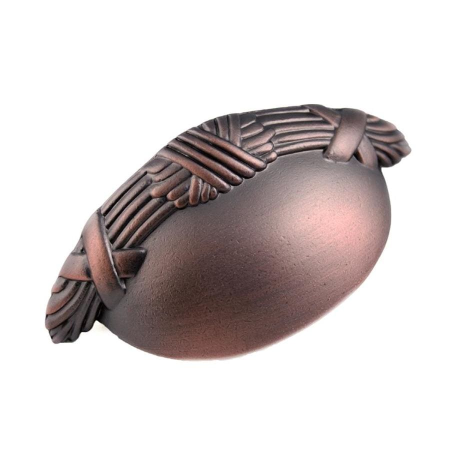 RK International 3-in Center-to-Center Distressed Copper Cup Cabinet Pull