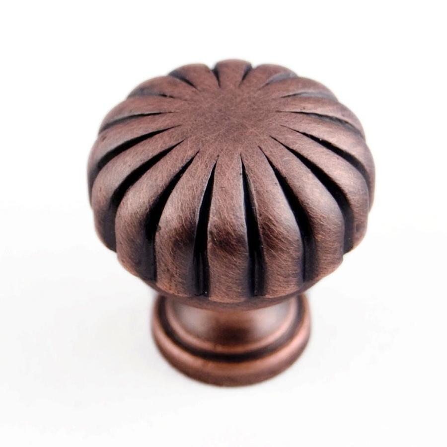 RK International Distressed Copper Round Cabinet Knob