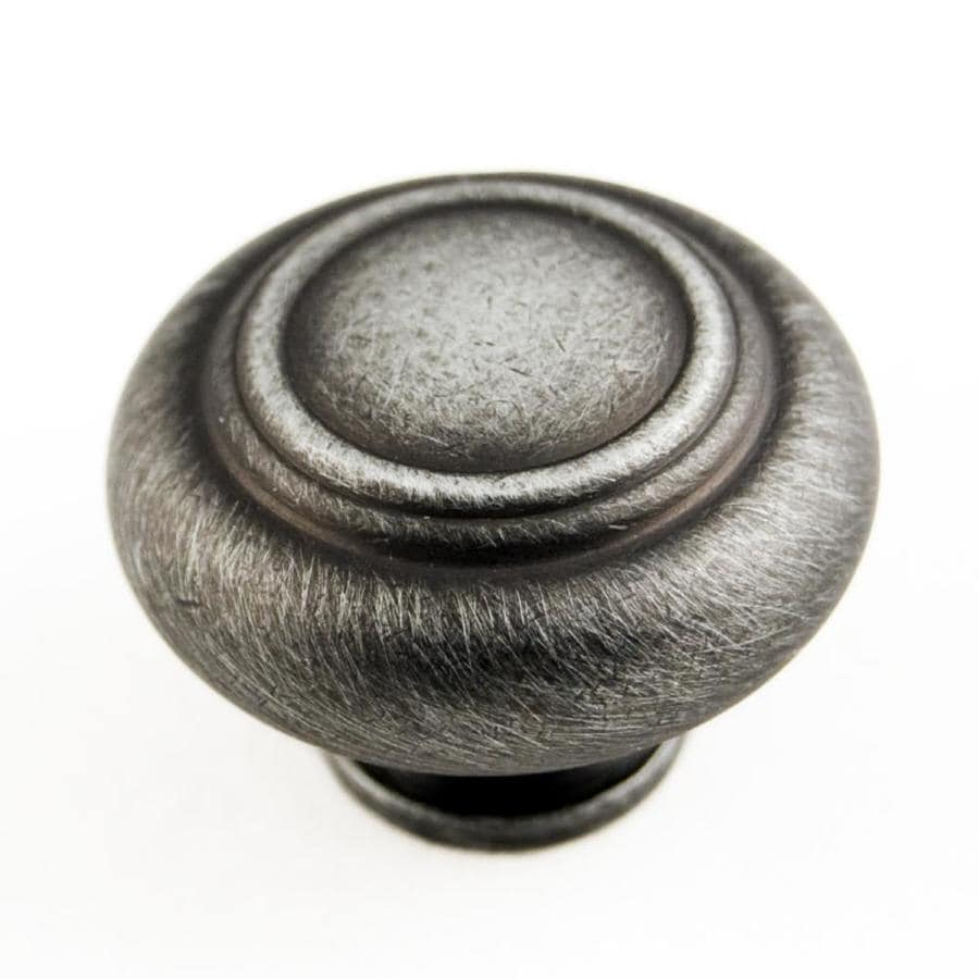 RK International Distressed Nickel Round Cabinet Knob