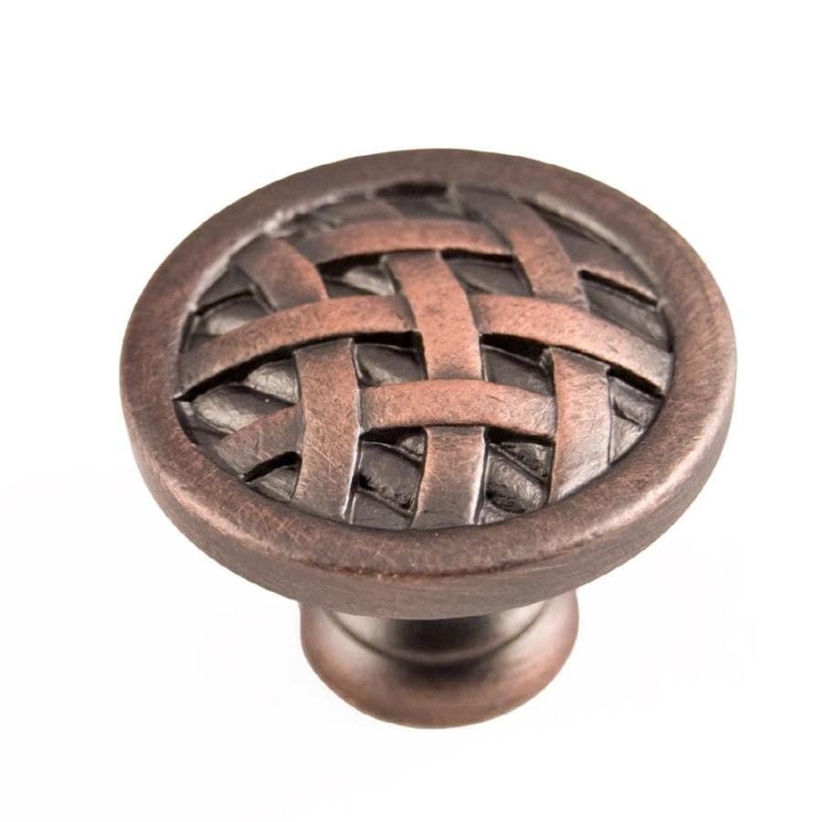 RK International Distressed Copper Round Cabinet Knob