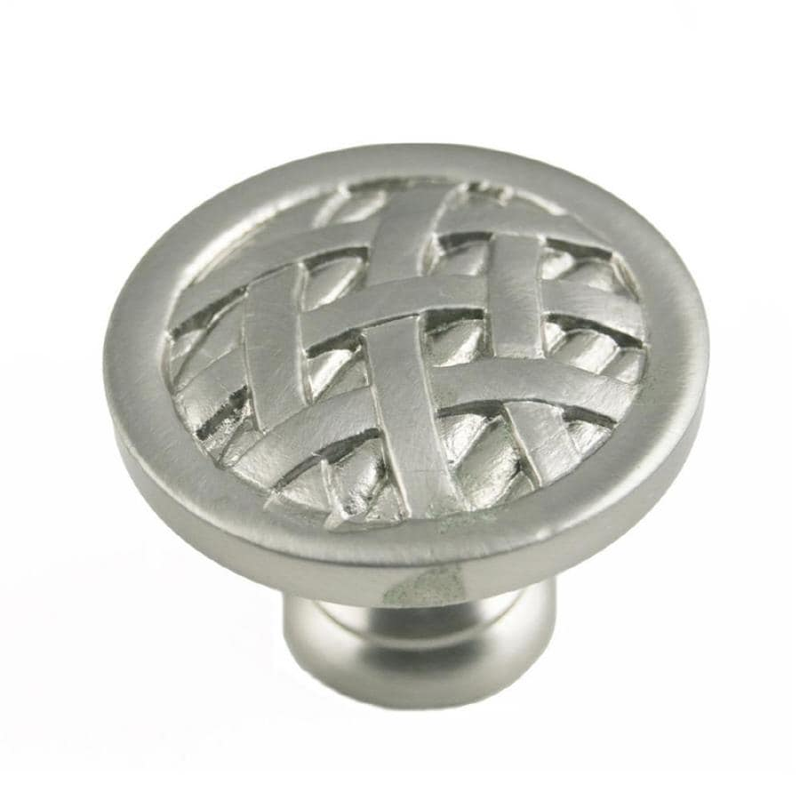 RK International Satin Nickel Round Cabinet Knob