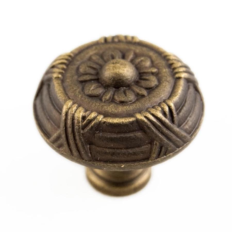 RK International Antique English Round Cabinet Knob