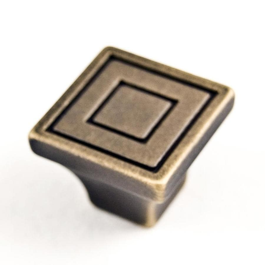 RK International Antique English Square Cabinet Knob