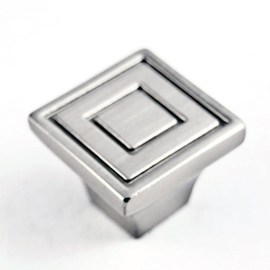 RK International Satin Nickel Square Cabinet Knob