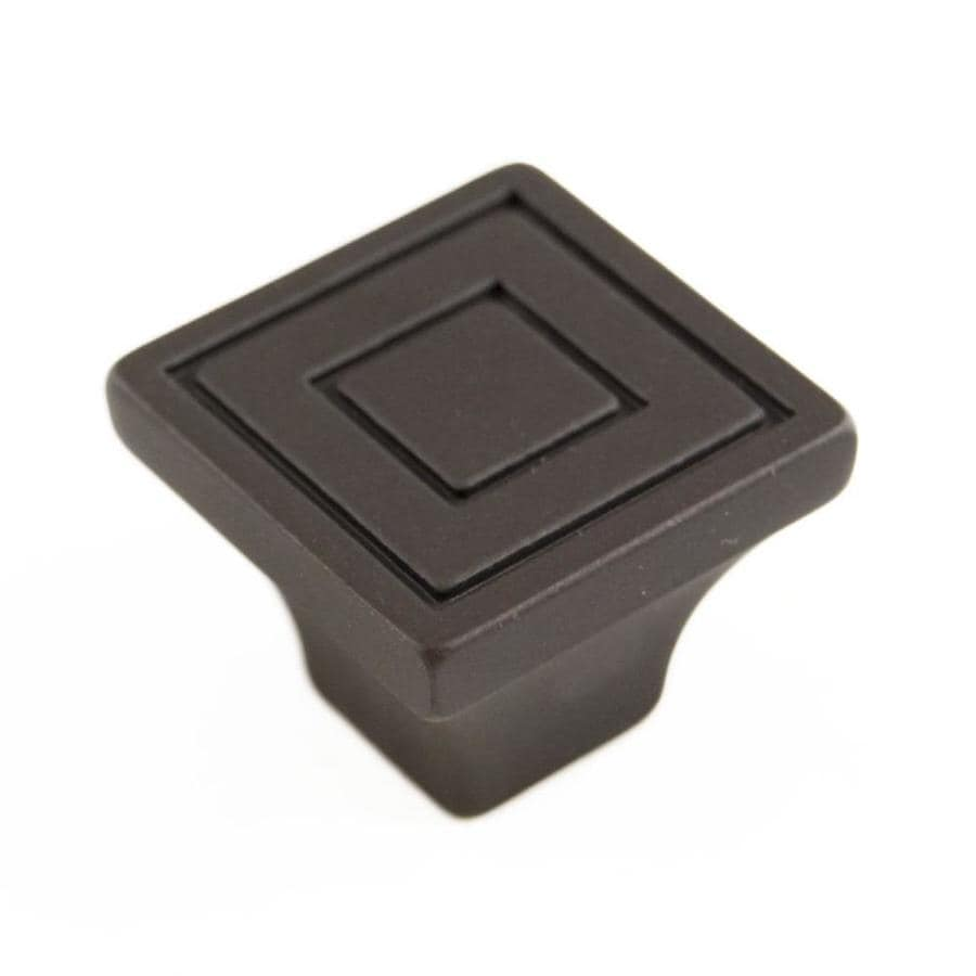 RK International Oil-Rubbed Bronze Square Cabinet Knob