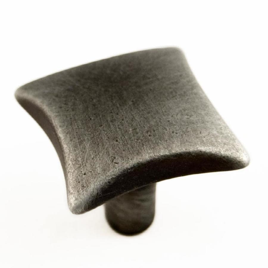 RK International Distressed Nickel Square Cabinet Knob