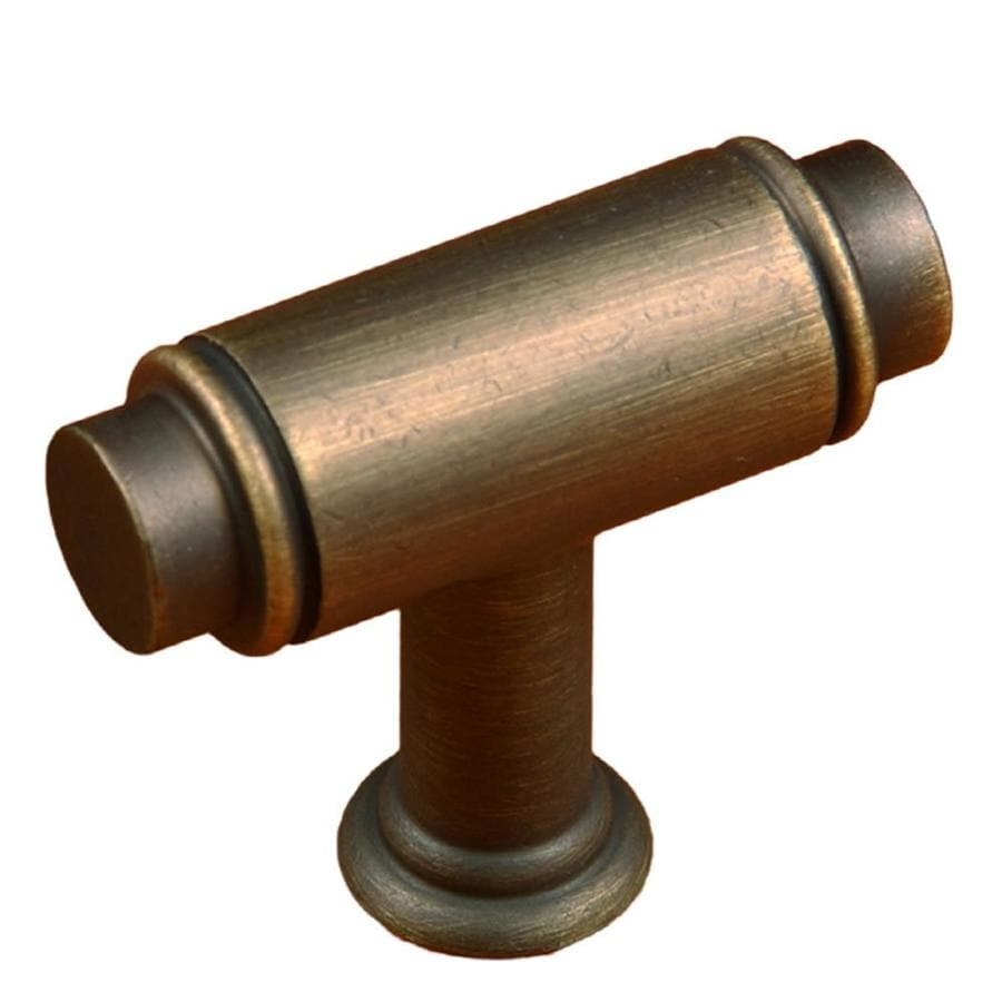 RK International Antique English Rectangular Cabinet Knob