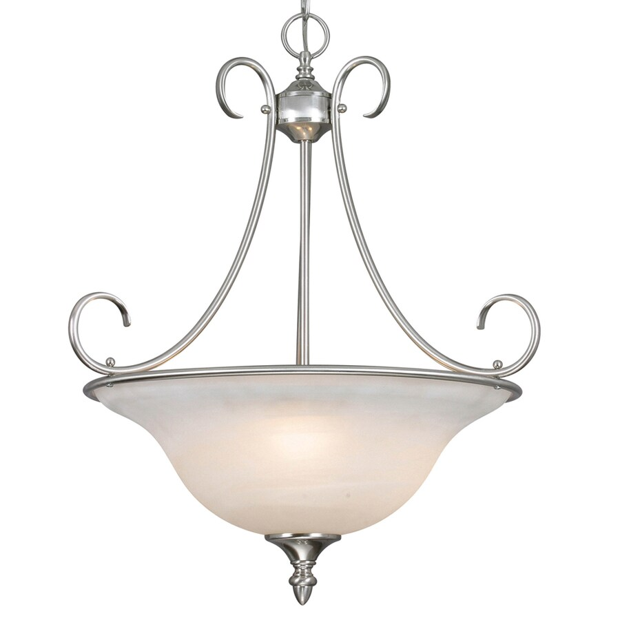 Collette 20-in Pewter Single Marbleized Glass Pendant