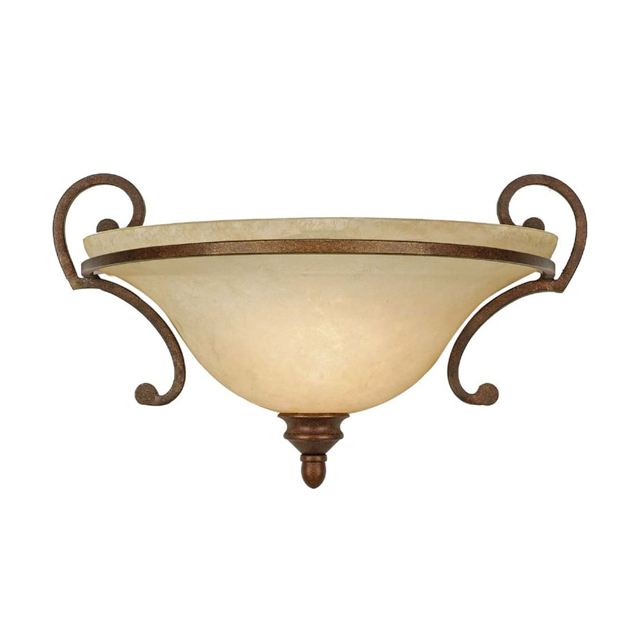 Collette 10.78-in W 1-Light Champagne Bronze Pocket Hardwired Wall Sconce