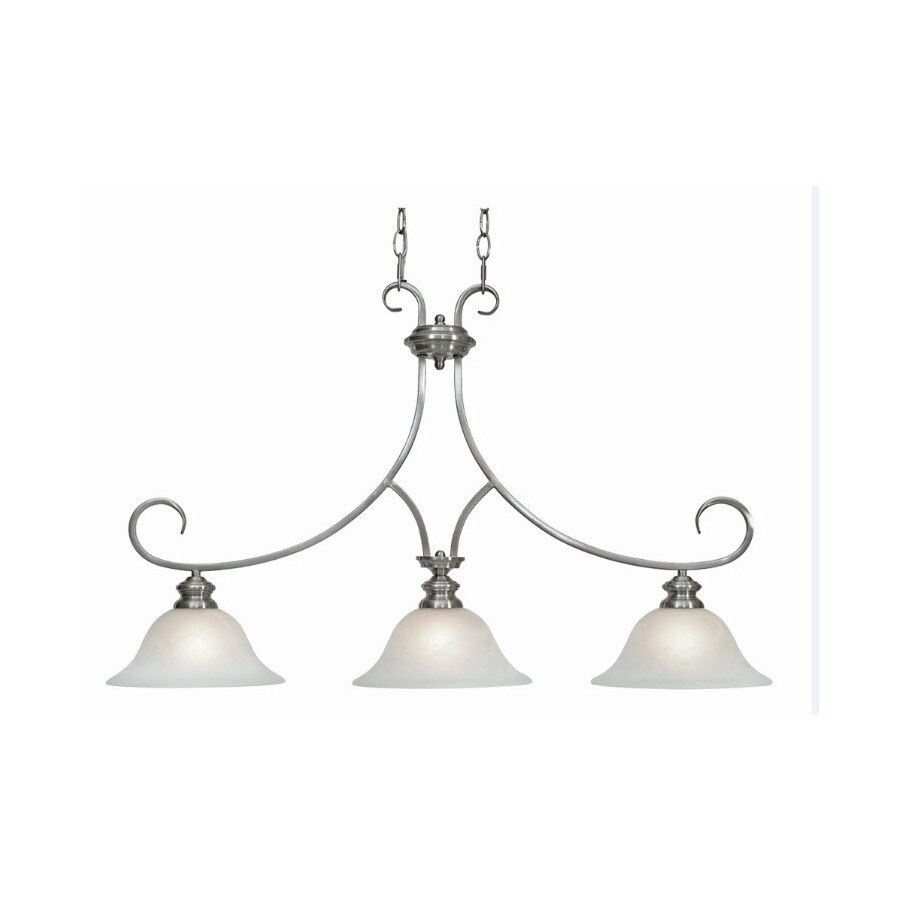 Collette 18 In W 3 Light Pewter Kitchen Island Light With Tinted Shade At Lowes Com