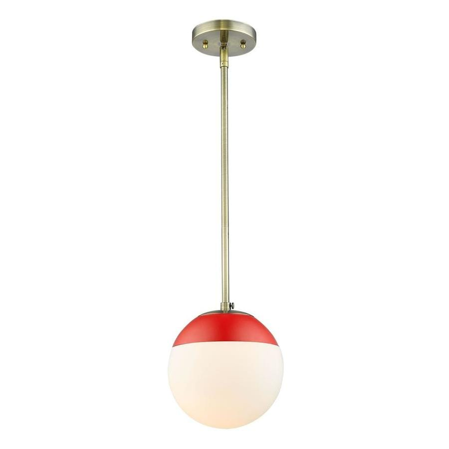 Golden Lighting 3218-1W AB-RED One Light Wall Sconce