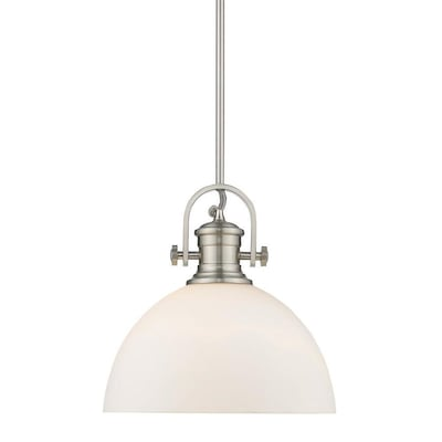 Golden Lighting Hines Pewter Opal Gl Bowl Pendant Light