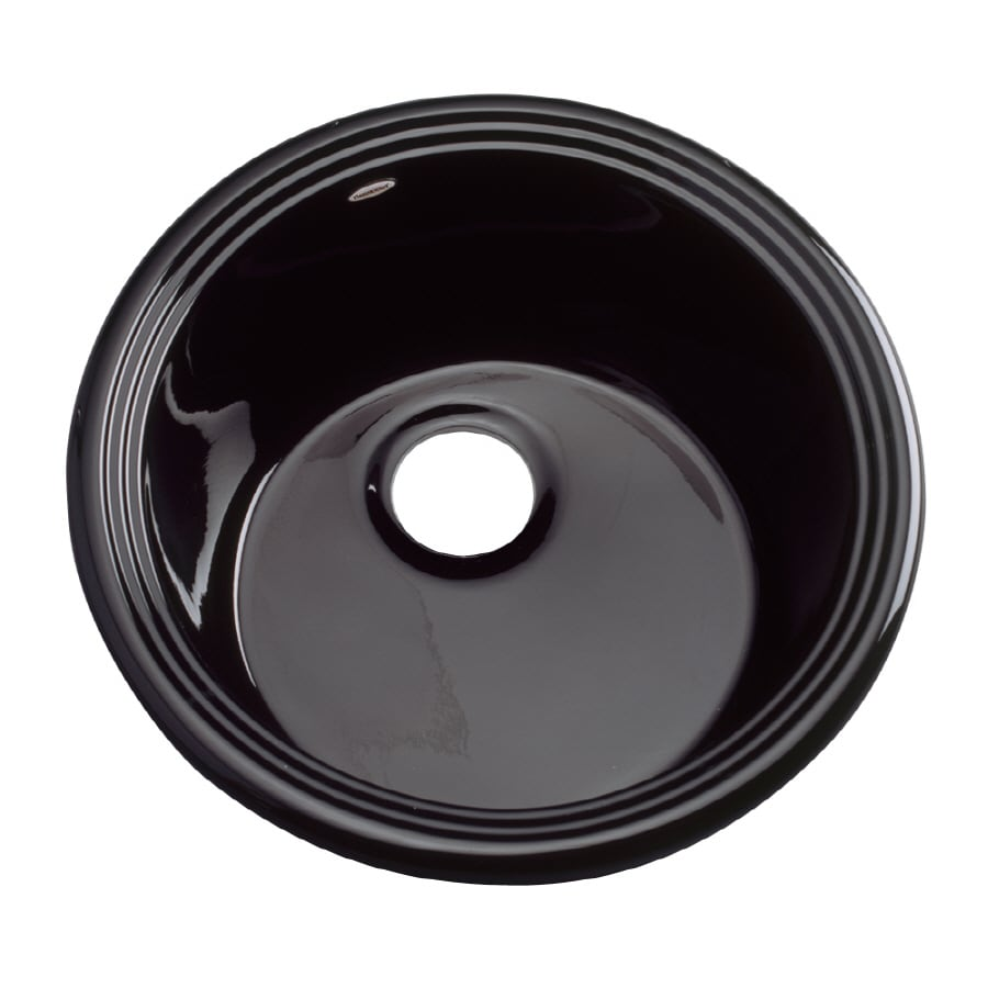 Shop Dekor Black Acrylic Drop-in Residential Prep Sink at Lowes.com