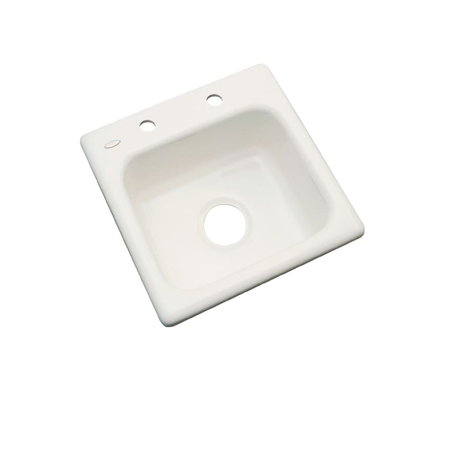 Dekor Almond 2-Hole Acrylic Drop-in Residential Bar Sink