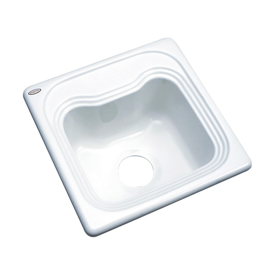 Dekor White Acrylic Drop-in Residential Bar Sink