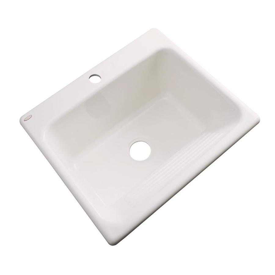 Dekor 22-in x 25-in Almond Drop-In Acrylic Laundry Utility Sink