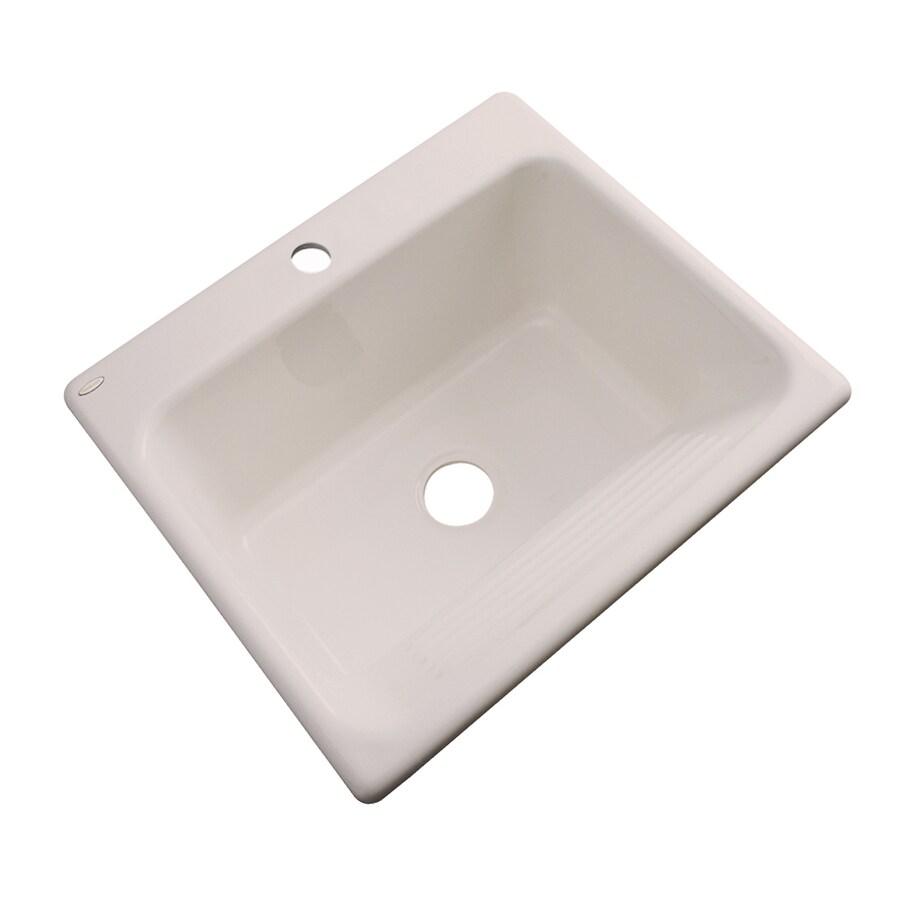 Dekor 22-in x 25-in Shell Drop-In Acrylic Laundry Utility Sink