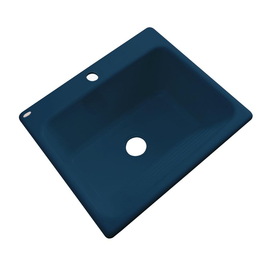 Dekor 22-in x 25-in Navy Blue Drop-In Acrylic Laundry Utility Sink