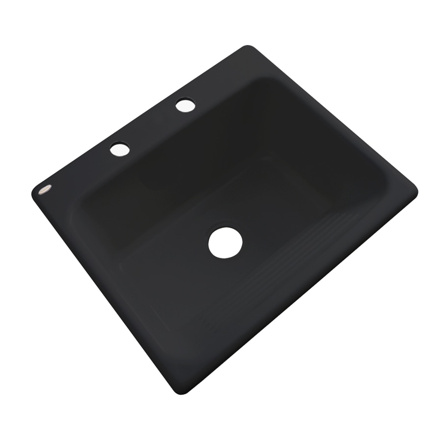 Dekor 22 In X 25 In Black Drop In Acrylic Laundry Utility Sink