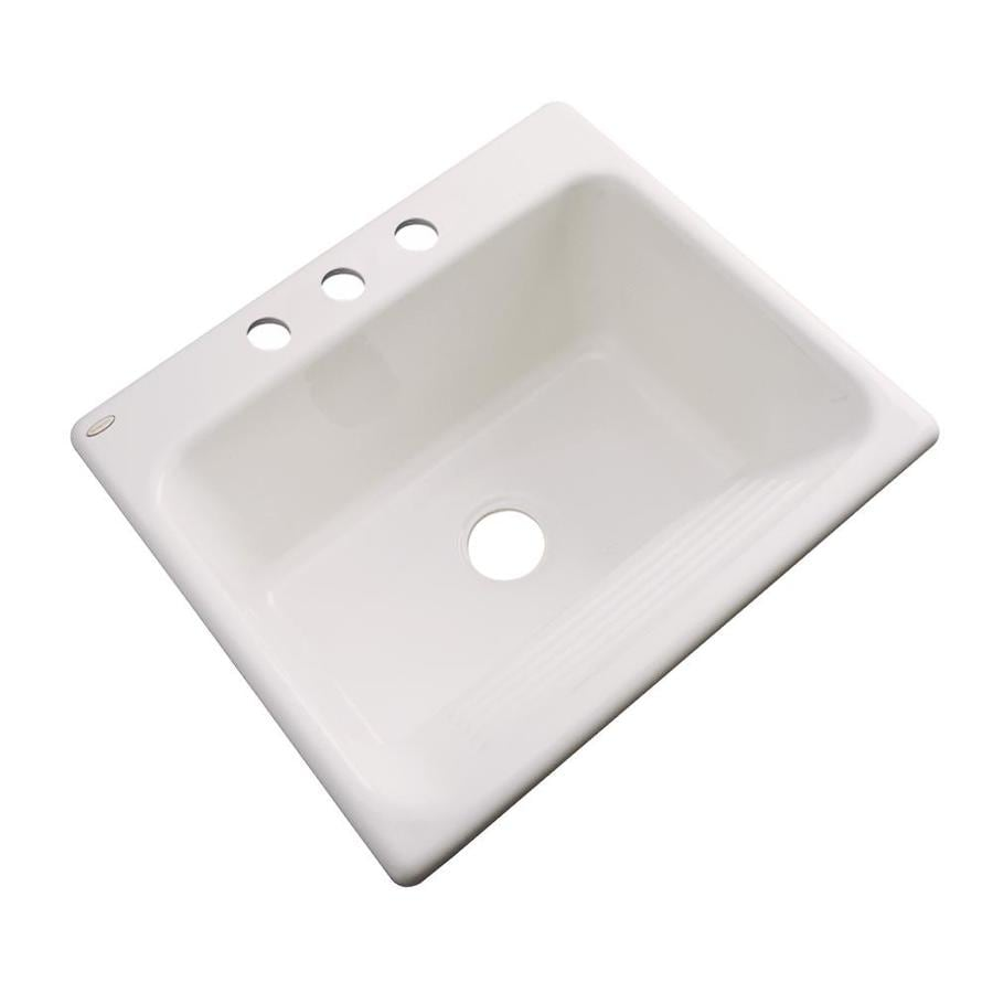 Dekor 22-in x 25-in Natural Drop-In Acrylic Laundry Utility Sink