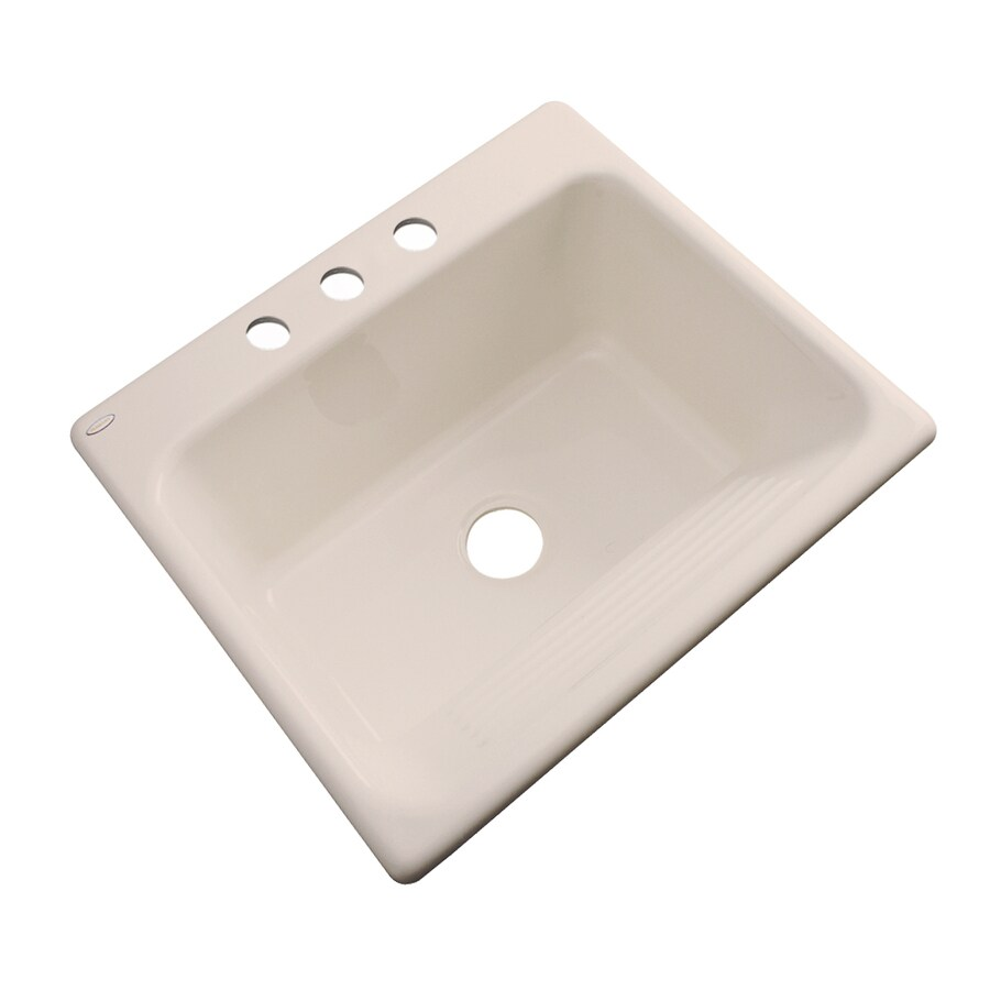 Dekor 22-in x 25-in Candlelyght Drop-In Acrylic Laundry Utility Sink