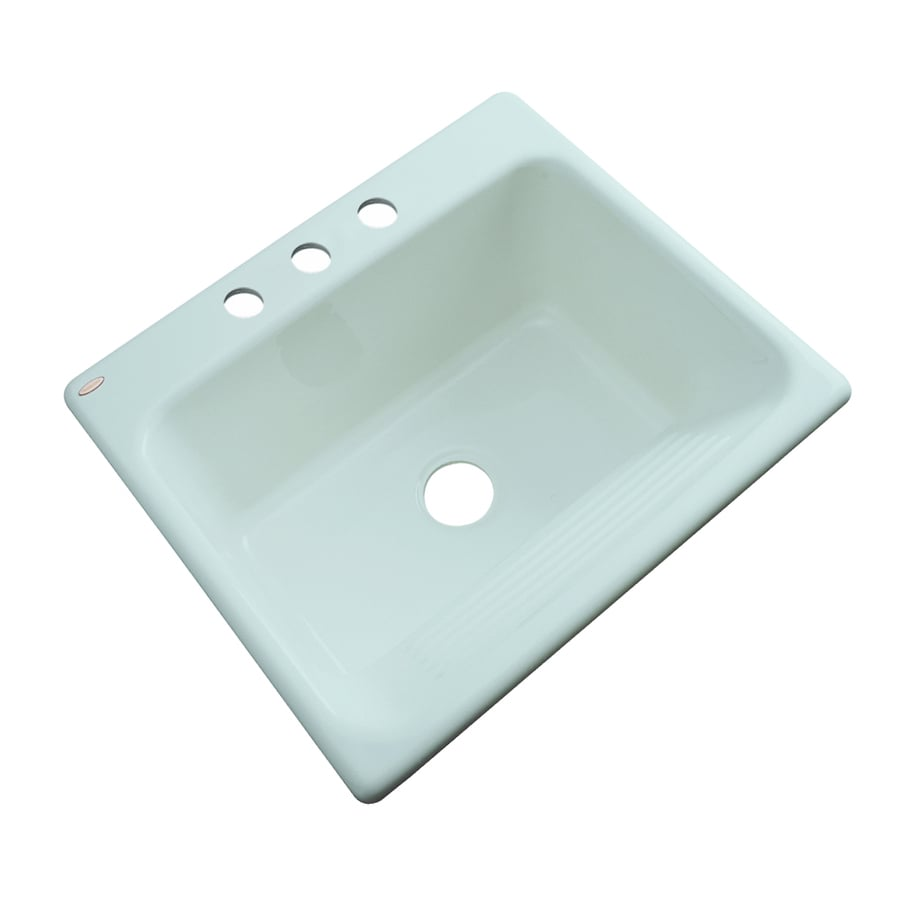 Dekor 22-in x 25-in Seafoam Drop-In Acrylic Laundry Utility Sink