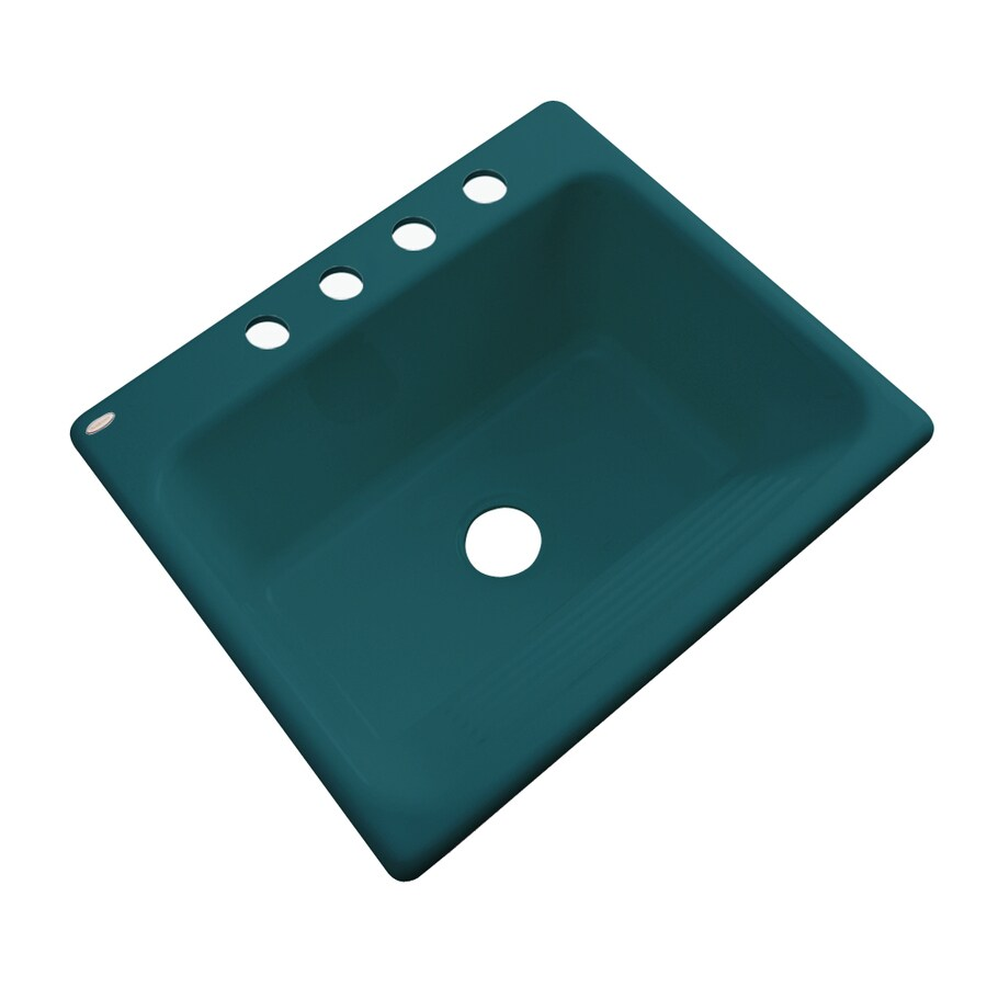 Merveilleux Dekor Teal Drop In Acrylic Laundry Sink