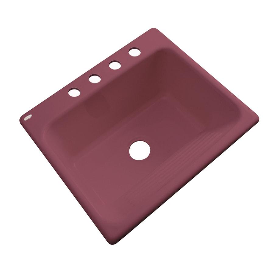 Dekor 22-in x 25-in Raspberry Puree Drop-In Acrylic Laundry Utility Sink