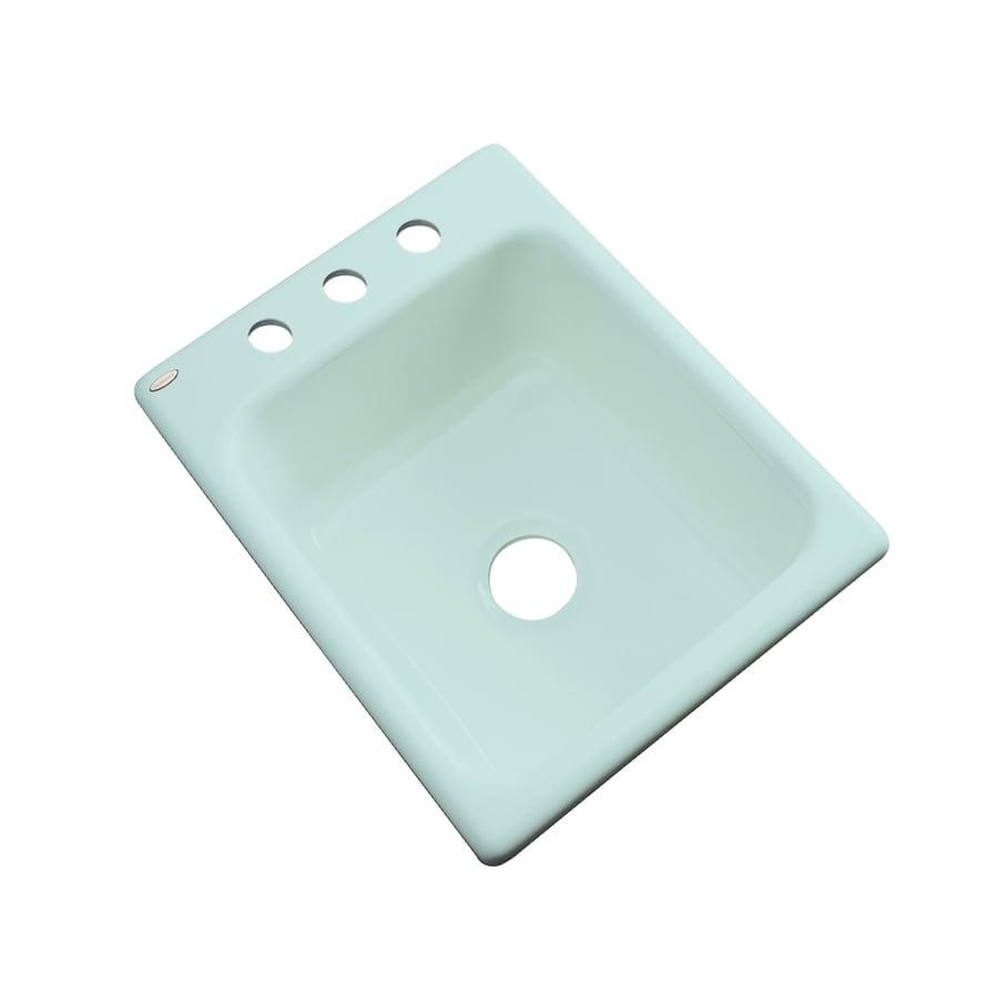 Dekor Seafoam 3-Hole Acrylic Drop-in Residential Bar Sink