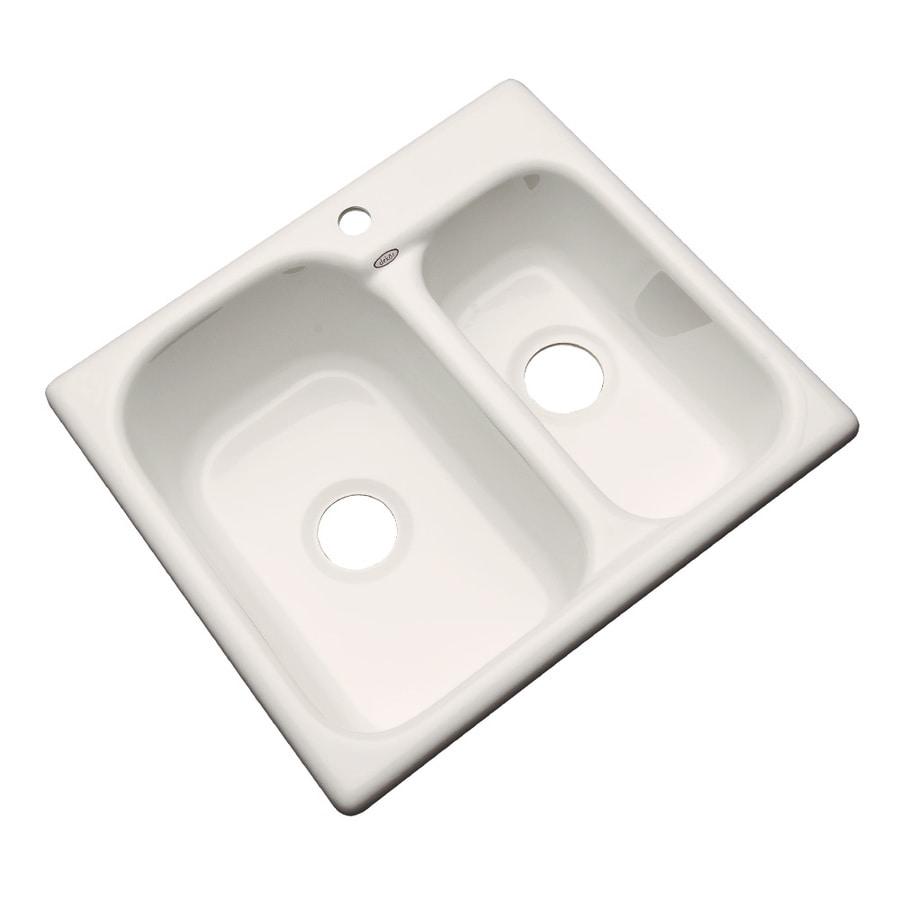Dekor Master 22-in x 25-in Almond Single-Basin-Basin Acrylic Drop-In-Hole Kitchen Sink