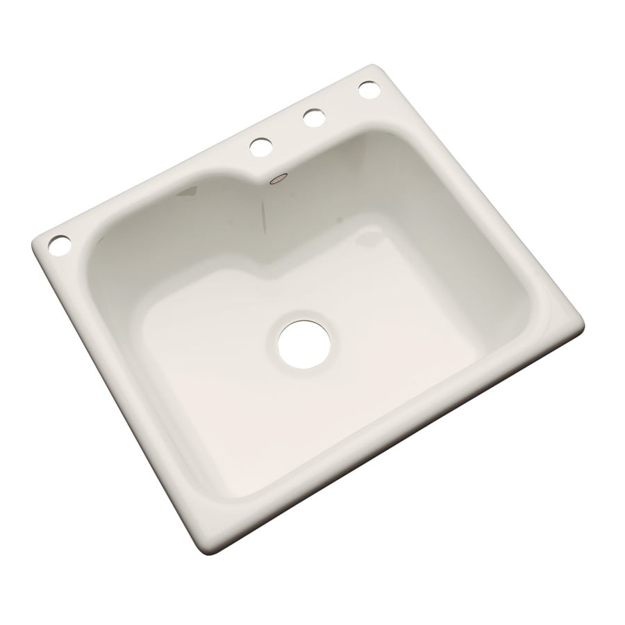 Dekor Master 22-in x 25-in Desert Bloom Single-Basin Acrylic Drop-in 4-Hole Residential Kitchen Sink