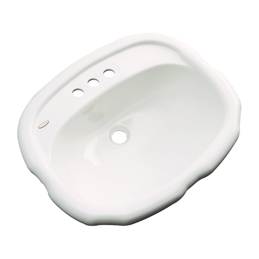 Dekor Cypress Biscuit Composite Drop-In Oval Bathroom Sink with Overflow