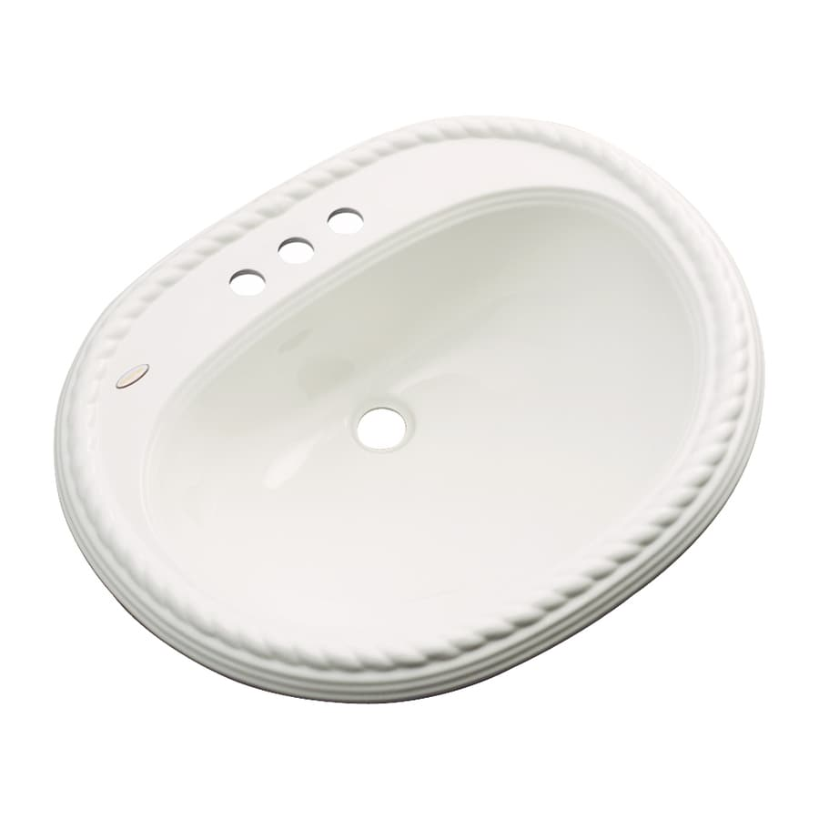 Dekor Manitou Biscuit Composite Drop-In Oval Bathroom Sink with Overflow