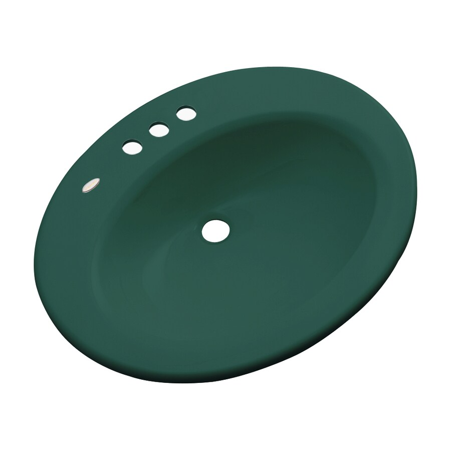 Dekor Avalon Rain Forest Composite Drop-In Oval Bathroom Sink with Overflow