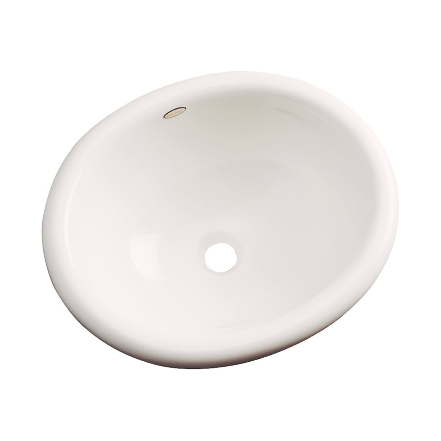Dekor Costa Bone Composite Drop-In Oval Bathroom Sink with Overflow