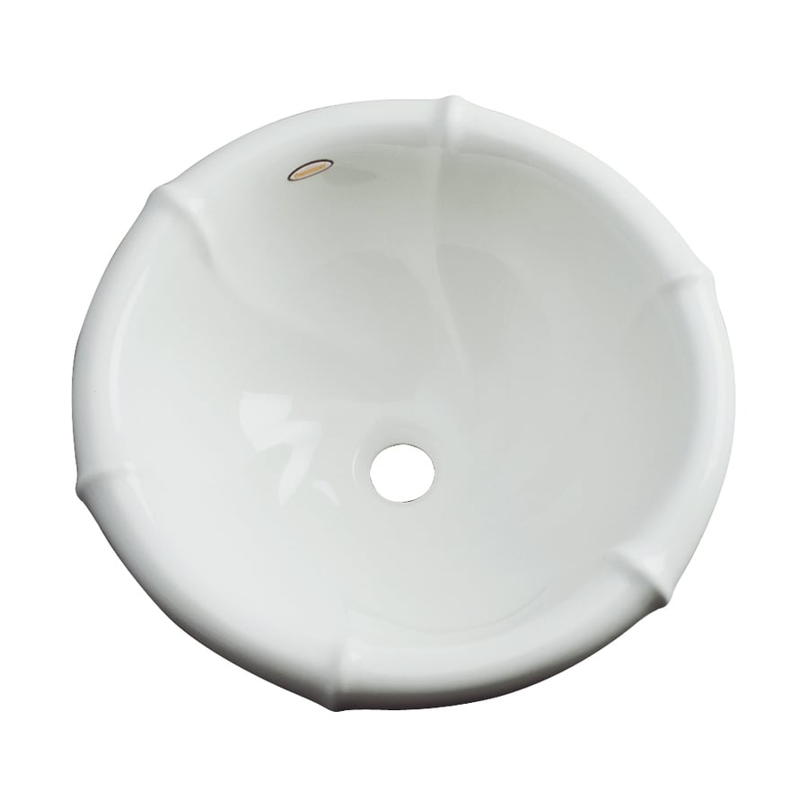 Dekor Siesta Ice Gray Composite Drop-In Round Bathroom Sink with Overflow