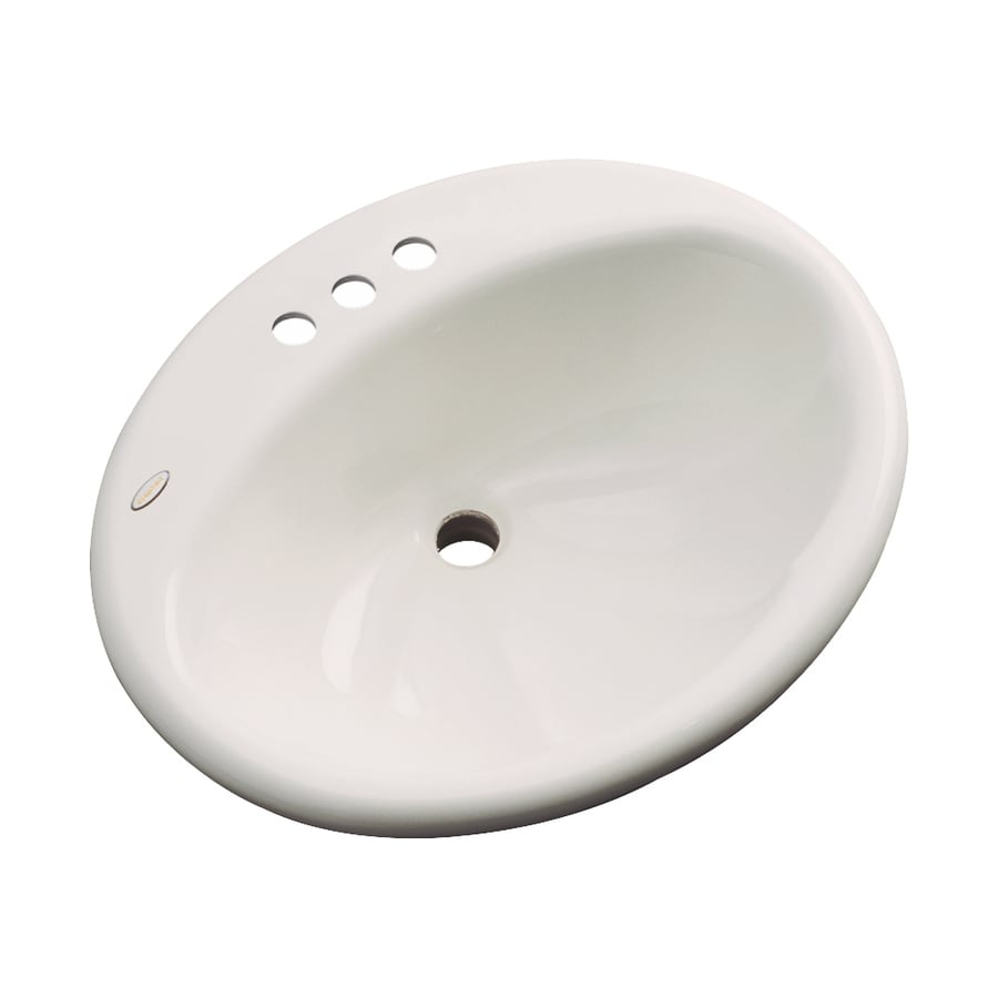Dekor Seaside Natural Composite Drop-In Oval Bathroom Sink with Overflow
