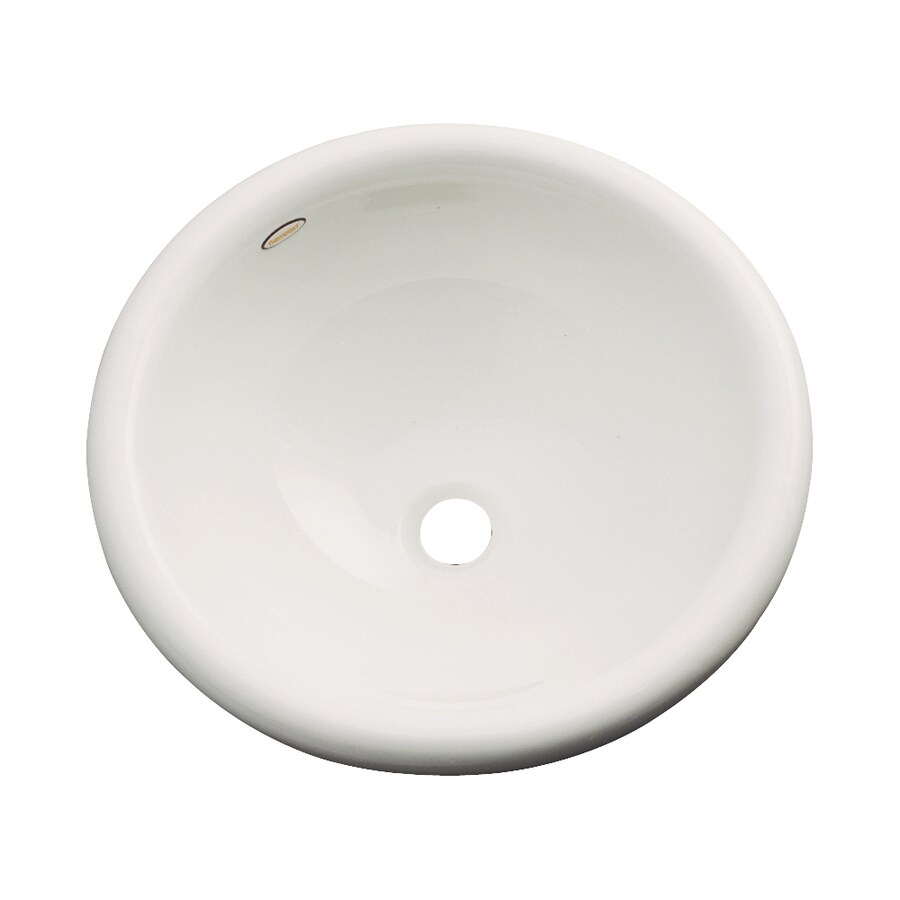 Dekor Biscayne Natural Composite Drop-In Round Bathroom Sink with Overflow