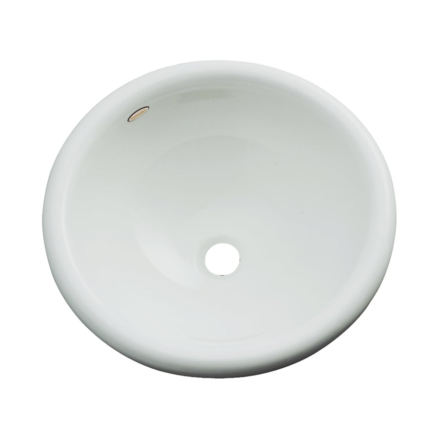 Dekor Biscayne Sterling Silver Composite Drop-In Round Bathroom Sink with Overflow