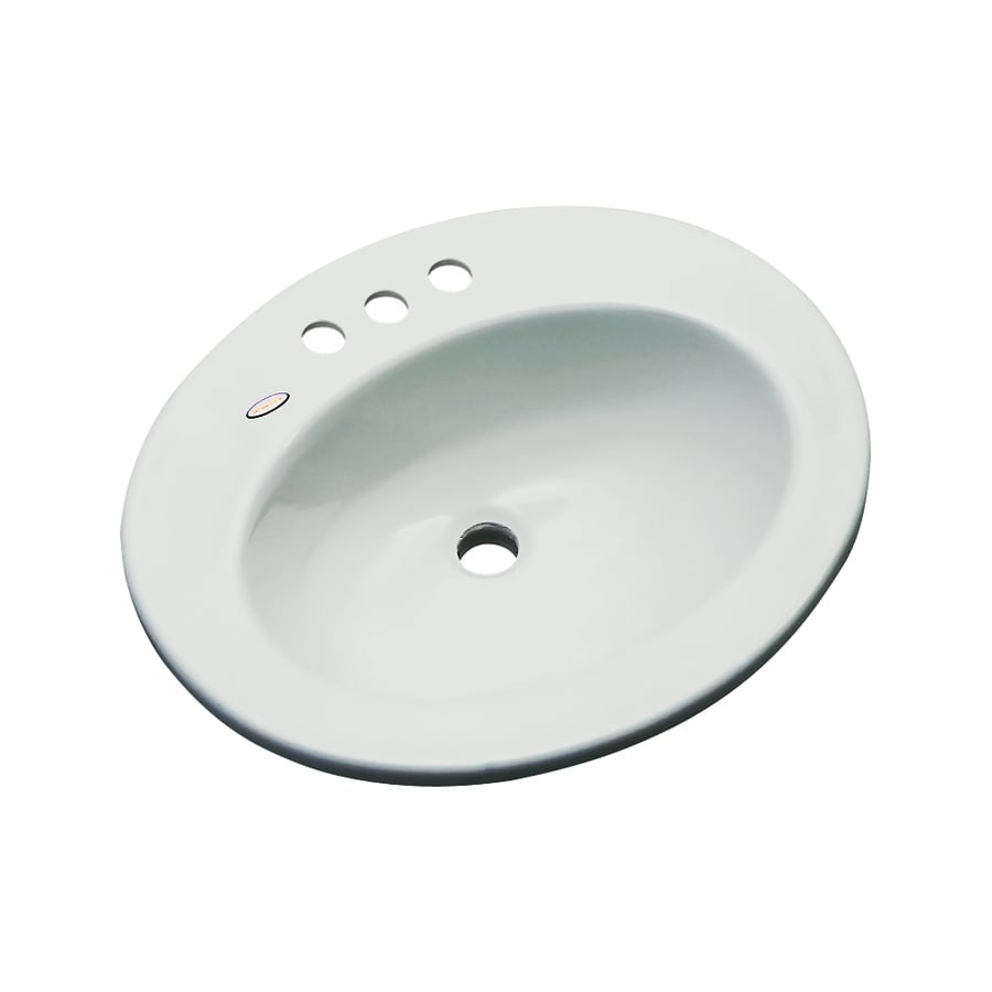 Dekor Belmont Sterling Silver Composite Drop-In Oval Bathroom Sink with Overflow