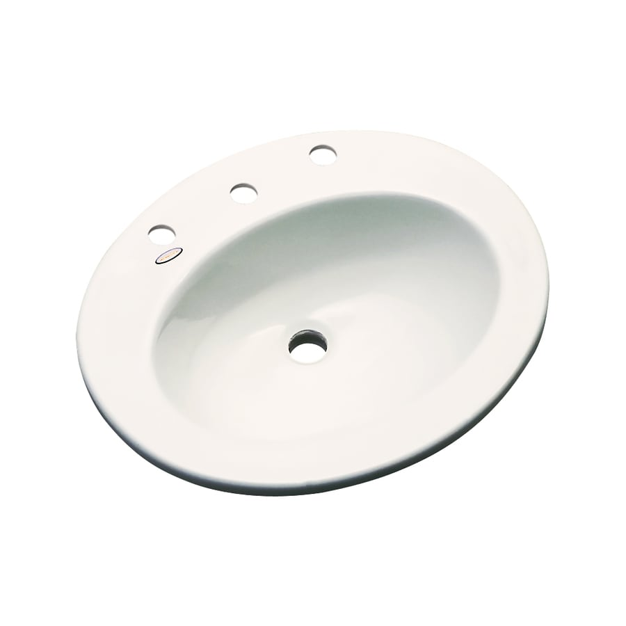 Dekor Belmont Biscuit Composite Drop-In Oval Bathroom Sink with Overflow