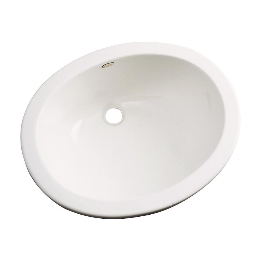 Dekor Ellsworth Biscuit Composite Undermount Oval Bathroom Sink with Overflow