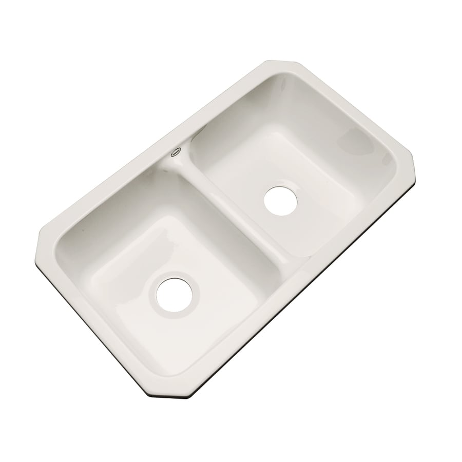 Dekor Master 18.25-in x 33-in Almond Single-Basin-Basin Acrylic Undermount (Customizable)-Hole Residential Kitchen Sink