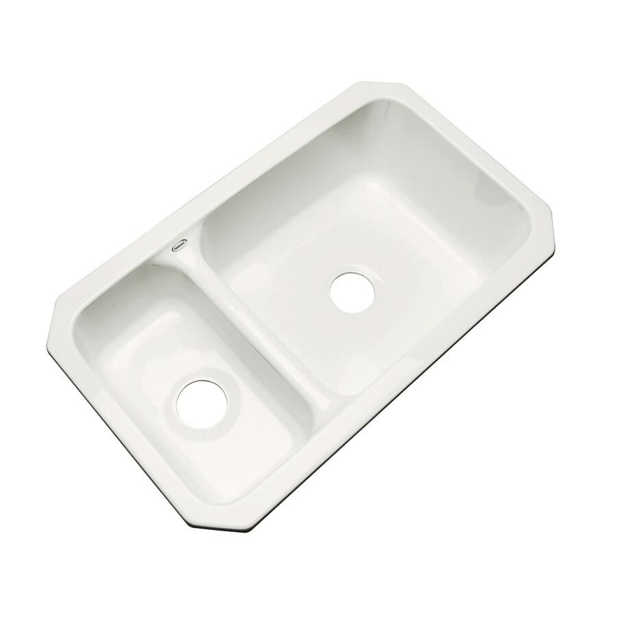 Dekor Master 18.25-in x 33-in Biscuit Single-Basin-Basin Acrylic Undermount (Customizable)-Hole Residential Kitchen Sink