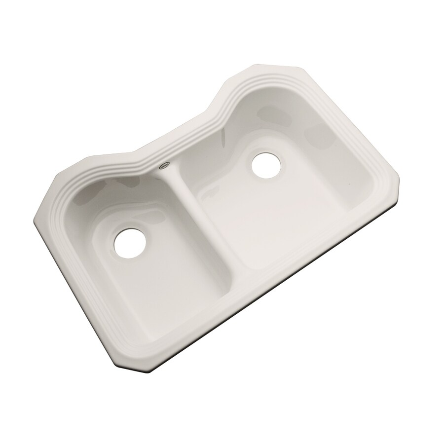 Dekor Master 21.5-in x 32.5-in Natural Double-Basin Acrylic Undermount Residential Kitchen Sink