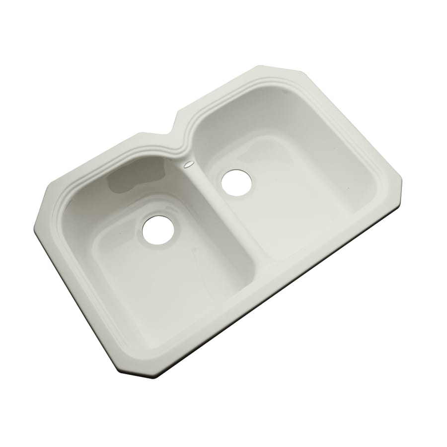 Dekor Master 21.5-in x 32.5-in Tender Gray Double-Basin Acrylic Undermount Residential Kitchen Sink