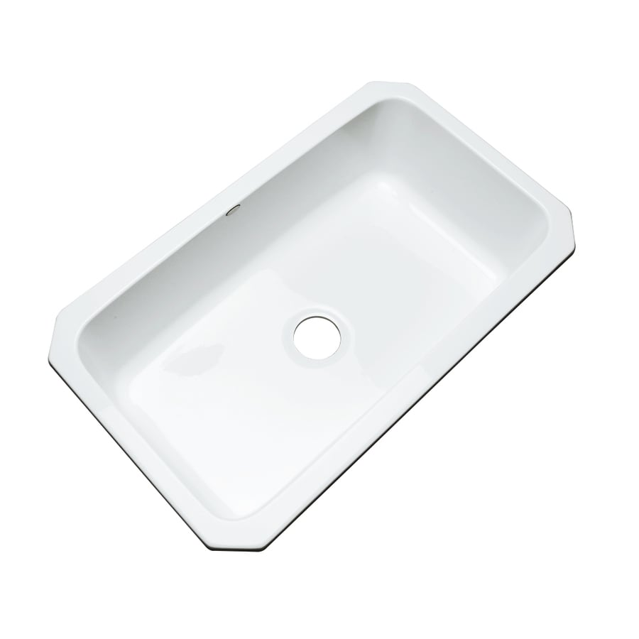 Dekor Master 21.5-in x 32.5-in White Single-Basin Acrylic Undermount Residential Kitchen Sink