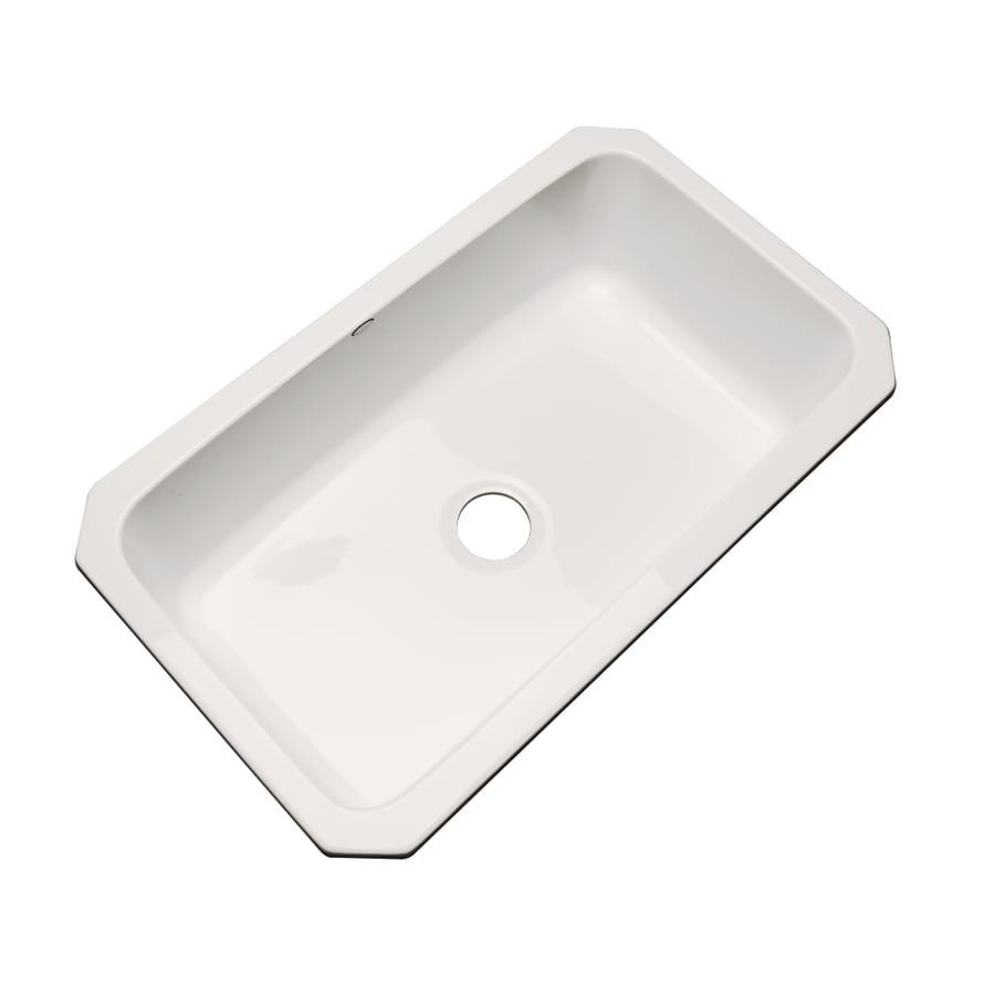 Dekor Master 21.5-in x 32.5-in Almond Single-Basin Acrylic Undermount Residential Kitchen Sink