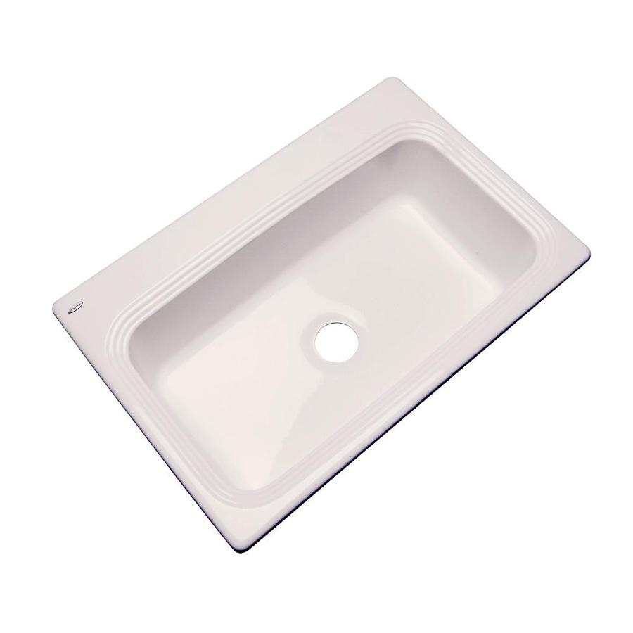 Dekor Master 21.5-in x 32.5-in Almond Single-Basin Acrylic Undermount Residential Kitchen Sink