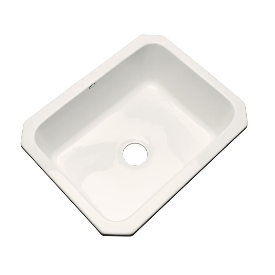 Dekor Master 18.25-in x 25-in Biscuit Single-Basin Acrylic Undermount Residential Kitchen Sink